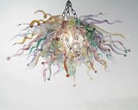100% lustre mão soprado vidro de murano arte moderna projetada teto iluminação de vidro pendurado personalizado lustre estilo chihuly