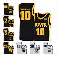 2020 NCAA Iowa Hawkeyes Jerseys 10 Joe Wieskamp 25 Tyler Cozinhe 55 Luka Garza 5 CJ Fredrick 15 Kriener 30 Lester Basketball camisas personalizadas