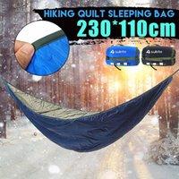 Hamaca Saco de dormir ultraligero acampar al aire libre hamaca Underquilt portátil caliente del invierno bajo edredón manta de algodón