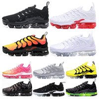 2020 Fashion Men Running Shoes Triple White black Bumblebee ...