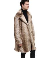 Manteau de fourrure pour hommes manteau de manteau de manteau pour hommes manteau de manteau de punk noir manteau d'hiver du Nord d'hiver en fausse fourrure