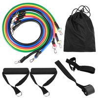 13pcs set Exercises Resistance Bands Latex Tubes Pedal Excer...