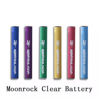 Batería de roca de luna 350mAh precalentamiento de voltaje variable de voltaje táctil Vape batería 10,5 mm Luz del LED inferior 510 Batería de hilo para Carreras de Rock Moon
