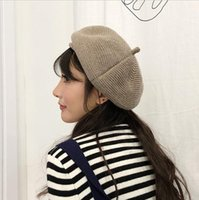 Japanese Style Thread Knitted Hat 7 Color Women Beret Solid ...