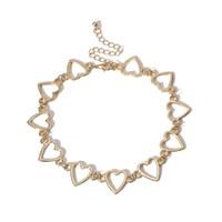 الجوف القلب قلادة قلادة فضية الذهب شكل قلب قلادة سلسلة المرأة الأزياء والمجوهرات