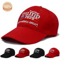 다시 미국을 대단한 곳으로 만들기 도널드 트럼프 슬로건과 미국 국기 모자 조절 가능한 야구 모자 자수 트럼프 2020 acc014