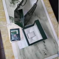 Melhor Qualidade de luxo Verde Watch Box presente do caso Handbag 180 milímetros * 130 milímetros * 80 milímetros Original Madeira Watch Box grátis