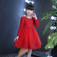 New long- sleeved lace princess skirt Korean version fluffy w...