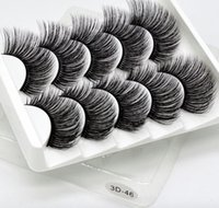 3D hand- made synthetic false eyelashes 5 pairs soft and comf...