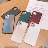La textura de la serpiente del laser del brillo de Bling de lujo ultra fina de cuero de la PU suave de la cubierta del caso del iPhone para el 11 Pro Max 2019 XR XS X 6 7 8 6S Plus