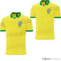 Camiseta AAA + camiseta de fútbol de Brasil de 2019 hombres de Brasil  Jersey 2019 20 2b56e1d4bf68a