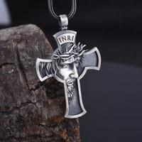 Moda Gesù Cross Collana Mens Womens Gioielli Religioso Salvatore Pendente Accessori cristiani