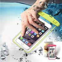 Universale per iphone 7 X XR XS samsung S10 S8 custodia impermeabile cellulare sacchetto asciutto impermeabile per telefono sotto 6.0 pollici