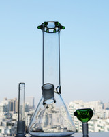 Thick Glass Beaker Base Bong Downstem Perc Straight Tube Bon...