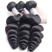 9A brésilien lâche vierge vierge cheveux 3 bundles lâche vague extensions de cheveux humains peruvian malaisien indien vierge cheveux lâche vague boucly curl