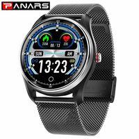 Panars Smart Watch Men Sport Bluetooth Meddelande Påminnelse Vattentät Hjärtfrekvens Blodtryck Övervakning Kvinnor Armbandsur