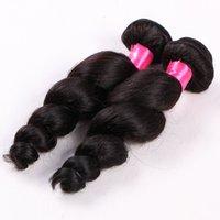 Elibess brasileño de la Virgen del pelo de lotes 4pcs / lot 100g / pcs 6A no procesados humano teje suelta pelo de la onda del pelo con color natural