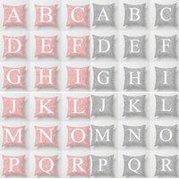Nuevas letras rosadas Fundas de almohada Funda de cojín Glamour Impresión cuadrada Funda de cojín Funda de cojín Sofá de oficina en casa Decoración del coche XD19906