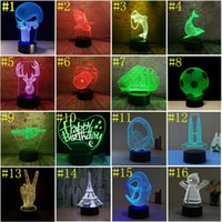 3D led lights 7 Color Touch Switch LED Night Light Acrylic 3...