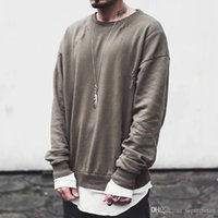 Olive OVERSIZE Sweatshirts Fashion kanye west hole Sweatshir...