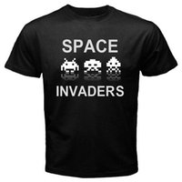 mens designer t shirts shirt Space Invaders 1 retro classic ...