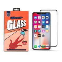 För iPhone 11 Pro Max XR XS Max Full Covered Tempered Glass 3D Skärmskydd för LG Stylo 5 K40 Moto G7 Power