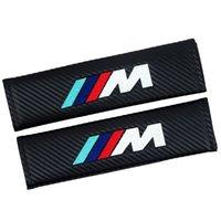 2 أجزاء تصفيف السيارة حزام حزام القضية ل bmw m logo m2 m3 m4 m5 m6x 320i x1 x3 x4 x5 x6