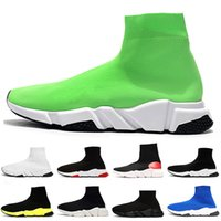 Balenciaga Socks Shoes  2020 Meias Sapatos Speed ​​Trainer Mens Womens Casual Shoes Preto Verde Branco Plataforma de luxo Designer Botas Vintage Sock sapatilhas
