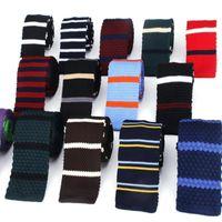 Hals Krawatte Set Strick Für Männer Beiläufige Gestrickte Krawatten Mode Polyester Mens Krawatte Hochzeit Geschäftsleute Erwachsene Anzug Smoking Plaid