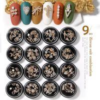 9pieces 3D Metal Zirkon Elmas Nail Art Dekorasyon Zirkon Rhinestones Nail Art Takı Alaşım Zirkon Püskül kolye Tırnak Acces