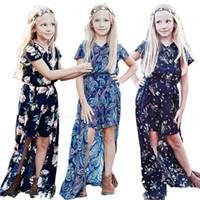 Summer Girls DressToddler bebê crianças roupas menina da criança Festa Country Style Long Sleeve Boho vestido de verão 2019 crianças Outfit