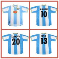 1999 2000 Retro Latium Europäischer Fußball-Jersey Home 99 00 Salas Mihajlovic Veron Stankovic Mancini Nesta Nedved Inzaghi Vintage Football Shirt