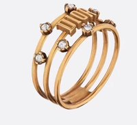Promotion Top Quality Lovers Rings 18K Gold Plated Bronze wi...