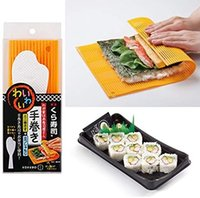 Haciendo sushi Kit Hacer Sushi Mat con arroz esparcidor Paddle Espátula Made in Japan (naranja)