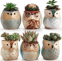 Nuovo fumetto a forma di fiore vaso per piante grasse carnose vaso di fiori in ceramica piccola mini casa / giardino / ufficio decorazione 6 stile scegli DHL