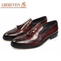 GRIMENTIN Brander Italian fashion genuine leather men shoes ...