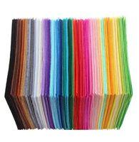 40шт/комплект non-сплетенная ткань войлока полиэфира ткань войлок ткань DIY комплект для шитья куклы ручной работы толстый домашний декор красочные