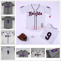 Men' s Roy Hobbs Jersey #9 New York Knights The Natural ...