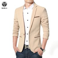RUELK New Arrival Luxury Men Blazer New Fashion Brand High Q...