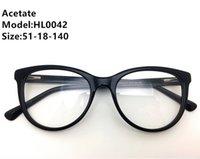 أعلى النساء نظارات عالية الجودة أزياء الرجال النظارات إطارات النظارات خلات خمر نظارات تصميم العلامة التجارية إطار لوح النظارات HL00 KTKDN