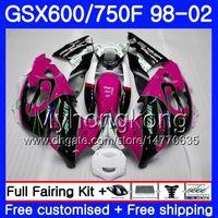Body For SUZUKI GSXF 750 600 GSXF750 1998 1999 2000 2001 2002 292HM.64 GSX 600F 750F KATANA GSXF600 98 99 00 01 02 Fairing Pink HOT hot