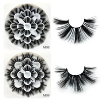 3D 밍크 속눈썹 자연 속눈썹 긴 속눈썹 연장 가짜 가짜 눈 속눈썹 화장품 메이크업 도구 7 쌍 / 세트 RRA1114
