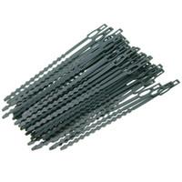 50pcs ajustables / porción de la planta de plástico reutilizables de uniones de cable de uniones de cable Invernadero kits de cultivo para el jardín Árbol Soporte Escalada