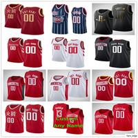 Impreso personalizado Russell 0 Westbrook Eric 10 Gordon James 13 Harden 15 Clint Capela 25 Austin Rivers 17 PJ Tucker Basketball Jerseys