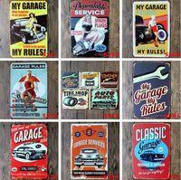 Panneaux en métal personnalisé Sinclair Moteur Huile Texaco Poster Home Bar Decor Decor Art Mur Art Photos Vintage Garage Sign 20x30CM LXL218A
