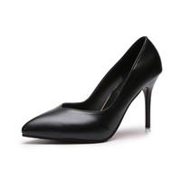 f33cf602c28f Designer Dress Shoes Autumn new stiletto women s single shallow mouth professional  work Korean fashion black 10cm high heels