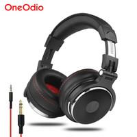 Oneodio Wired Professional Studio Pro DJ cuffie con il microfono sopra l'orecchio HiFi Monitor Musica Auricolare per PC del telefono (DETTAGLIO)