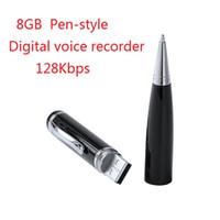 Профессиональный 8 ГБ диктофон ручка портативный HD мини диктофон ручка цифровой аудио рекордер с функцией U-диск в розничной коробке