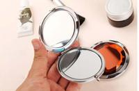 Specchio cosmetico rotondo tascabile di cristallo bello specchio specchietto per la tasca Strumenti professionali di trucco migliore regalo per il partito di favore di cerimonia nuziale da DHL