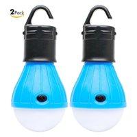 2 упаковки Портативной светодиодного фонарика Палатка Лампочка для кемпинга Рыбалка мигалки с питанием от батареи лампы с 6 Батареи